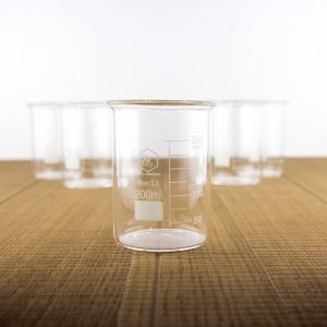 6 low form beakers 200 ml