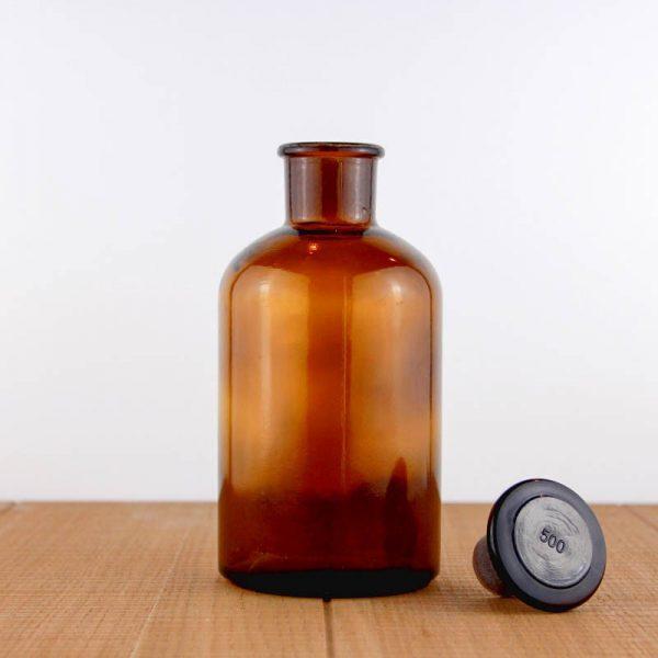 Reagent bottle 500 ml amber