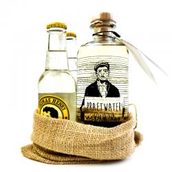 Praetwater Zeelse Gin in 'kloddezak' with 2 tonics